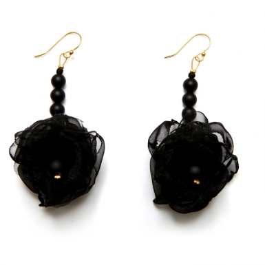 la-b-erythrocytes-black-earrings
